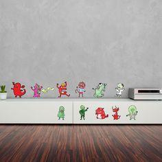 Monsters Vinyl Sticker Pack Wall Art By Matthew Britton.  https://www.vinylrevolution.co.uk/vinyl-shop/artist-series-shop/monsters-vinyl-sticker-pack-wall-art-by-matthew-britton/