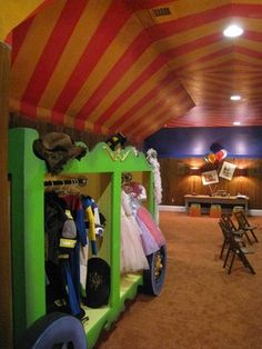 Put costumes in playroom! Surely I can find an old piece of furniture to transform into a wardrobe!