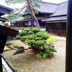 Looking out from Takayama Jinya