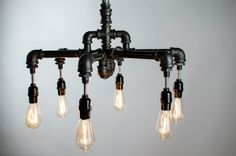 Industrial Lighting Industrial Chandelier  6 Edison by ChicWatts