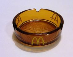 Vintage McDonald's Brown Glass Ashtray. I remember seeing these at certain McD's. Sigh....