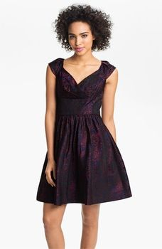 #SuziChin for Maggy Boutique Cap Sleeve Brocade Fit & Flare #Dress $178.00 @Nordstrom via Catalog Spree!