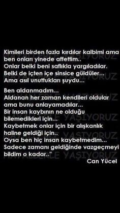 Can Yücel...