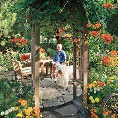 Beautiful garden and patio