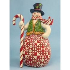 Jim Shore Jim Shore Red and Green Candy Cane Snowman 49.25
