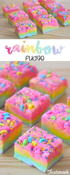 Fudge Who knew the rainbow tasted so chocolatey? This fudge is extra fun and just the dish for your next birthday party!Who knew the rainbow tasted so chocolatey? This fudge is extra fun and just the dish for your next birthday party! Trolls Birthday Party, Troll Party, Unicorn Birthday Parties, Birthday Treats, Diy Birthday, Unicorn Rainbow Cake, Rainbow Cupcakes, Birthday Recipes, Cup Cakes