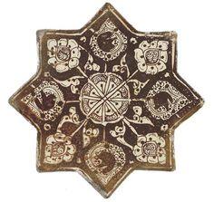 Lustreware Star Tile (Figural), Ilkhanid, Iran (Kashan), century Museum of Islamic Art Doha Qatar Islamic Tiles, Islamic Art, Mosaic Art, Mosaic Tiles, Turkish Pattern, Ancient Persian, Arabesque Pattern, Antique Tiles, Iranian Art