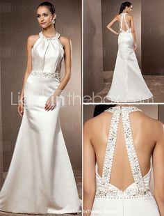 Lanting Bride® Trumpet / Mermaid Petite / Plus Sizes Wedding Dress - Classic & Timeless / Elegant & Luxurious Vintage Inspired / Open Back 2017 - $99.99