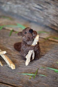 Needle Felted Beaver by Teresa Perleberg 2015