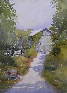 After School Chores by Judy Mudd Watercolor ~ 14 x 10