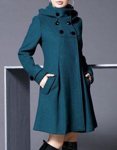 Wool Blend Hoodie Long Sleeve Plain Plus Size Coat Winter Coats Women, Coats For Women, Clothes For Women, Cheap Clothes, Langer Mantel, Plus Size Coats, Mode Hijab, Ideias Fashion, Trench Coats