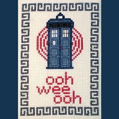 Doctor Who Cross-Stitch Patterns!