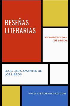 Blog para amantes de la lectura Spanish, Chart, Books, Book Lovers, Recommended Books, Libros, Book, Book Illustrations, Libri