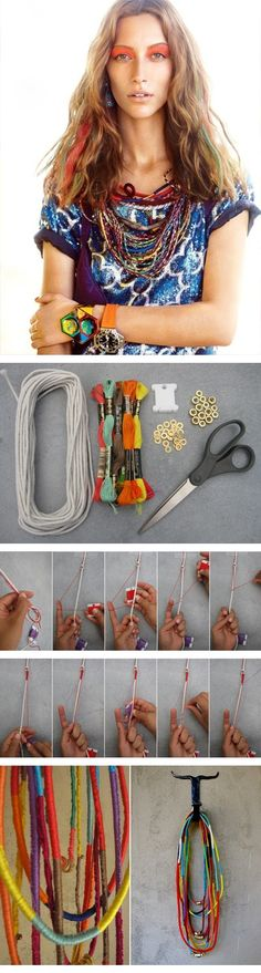 DIY Friendship Necklace holy bejeezuz I am soooo making this asap!!