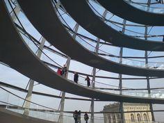 Reichstag, Berlin, Interior Dome walking ways
