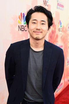 Steven Yeun attends the 2015 iHeartRadio Music Awards, March 29, 2015