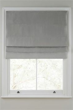 Buy Ella Roman Blind from the Next UK online shop [bedroom: 60w & 120w] Patio Blinds, Diy Blinds, Fabric Blinds, Outdoor Blinds, Wood Blinds, Bamboo Blinds, Curtains With Blinds, Privacy Blinds, Blinds Ideas