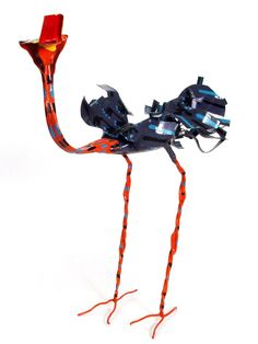 Hand painted tin ostrich. Add a colorful handmade accent to your space.   Artist: Mkankha Brothers   Made In: Zimbabwe  $36.00