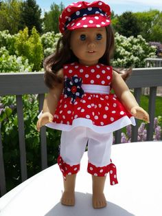 Love My Country 18 inch doll clothes and American von GPDollDesign