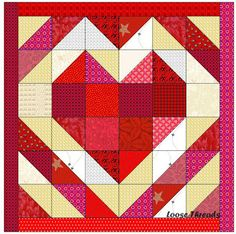Heart Strings Table Mat free PDF on Loose Threads at http://luannsloosethreads.blogspot.com/2012/02/heart-strings-table-mat-alternative.html