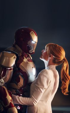 ↑↑TAP AND GET THE FREE APP! For geeks Ironman and Pepper Potts Colorful Movies Art Dark Superhero Cool Love Romantic Comics Marvel Illustration HD iPhone 4 Wallpaper