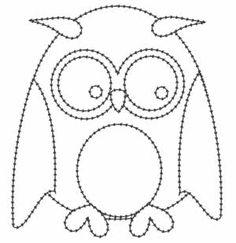 free digital stamp patchwork owl