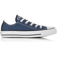 Converse Chuck Taylor All Star Canvas Trainer ($70) ❤ liked on Polyvore featuring shoes, sneakers, navy, navy blue sneakers, navy canvas sneakers, converse footwear, navy blue shoes and plimsoll sneaker