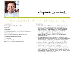 gougeres with espelette recipes dishmaps gougeres with espelette ...