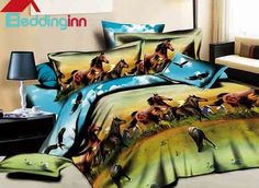 Cheap bed in a bag, Buy Quality bed in bag directly from China bedspreads beds Suppliers: Blue horse animal print bedding set sets queen size duvet cover bedspread bed in a bag sheet fashion linen brand Horse Bedding, Cheap Bedding Sets, Duvet Bedding, Comforter Cover, Comforter Sets, Bedding Decor, Queen Size Duvet Covers, Queen Bedding Sets, Animal Print Bedding