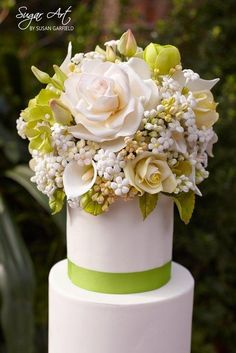 Sugar Flower Bouquet - Cake by Susan