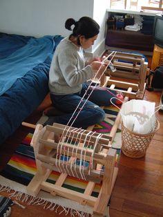 Kasuri Process | :: Rowland & Chinami Ricketts - Chinami Ricketts at work