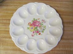 Rose Floral Stuffed Deviled Egg Plate from E by MostlyAwesomeStuff