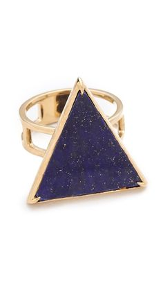 Elizabeth and James Metropolis Large Triangle Slab Ring