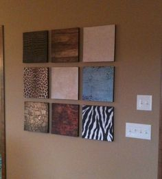 Make beautiful wall decor using foam insulation and scrapbook paper! apartment decor