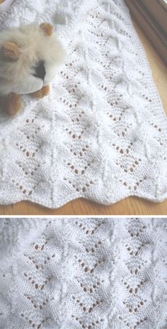 Reversible Lace Baby Blanket - Knitting Pattern History of Knitting String rotating, weaving and stitching jobs such as for example BC. Free Baby Blanket Patterns, Afghan Crochet Patterns, Baby Patterns, Knit Patterns, Baby Knitting, Crochet Baby, Knitting Machine Patterns, Knitted Baby Blankets, Blanket Stitch