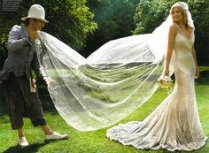 At Kate Moss' wedding