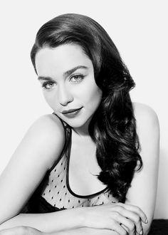Emilia Clarke Monochrome