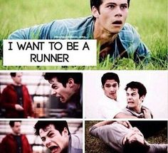 Seriously?? Do you want to be a runner?  Q: do you prefer Dylan in the maze runner or in teen wolf? A: I think in teen wolf because I love when he's awkward!  #dylanobrien #themazerunner #teenwolf