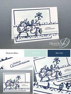 "Djudi'Scrap-BIRTHDAY CARD ""THINLITS FLOWER"""