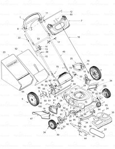 Husqvarna Self Propelled Lawn Mower Parts Diagram
