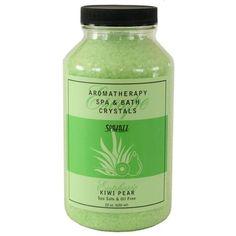 Spazazz Crystals Kiwi Pear, 22oz Jar | Spa Plus Home