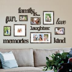 Nealy 13 Piece Collage Picture Frame Set - Dekoration - Pictures on Wall ideas Family Pictures On Wall, Family Picture Walls, Wall Decor With Pictures, Living Room Decor Pictures, Family Wall Decor, Family Wall Collage, Picture Wall Living Room, Living Room Wall Decor, Living Room Decorating Ideas