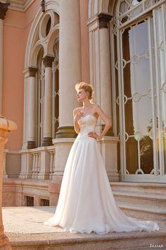 jillian sposa bridal 2015 strapless sweetheart wedding dress crystal embellished bodice
