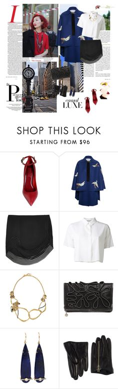"""""""Untitled #156"""" by moonduo ❤ liked on Polyvore featuring Valentino, STELLA McCARTNEY, T By Alexander Wang, Avenue, Alexis Bittar, Jemma Wynne and Dsquared2"""