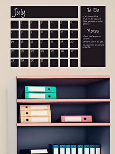 Stick this cool chalkboard decal right on your wall and jot down appointments and to-dos where you can see them.