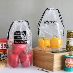PlanD Travel transparent drawstring pouch bag set by PlanD. The Travel drawstring pouch set is a simple and useful set of pouch bags. Transparent Shoes, Paper Bag Design, Pouch Packaging, Clear Bags, Drawstring Pouch, Packaging Design Inspiration, Favor Bags, Pouch Bag, Packing