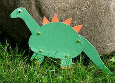 Moveable Paper Dinosaur Craft: Classic Crafts for Kids - Kaboose.com