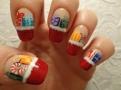 Perfect for  some Christmas bling - mini red tips and a soft white medium with cute animations on the bottom.