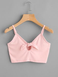 I love this color Crop Top Outfits, Pink Outfits, Cute Casual Outfits, Girls Fashion Clothes, Teen Fashion Outfits, Girl Fashion, Cute Crop Tops, Cami Tops, Belly Shirts