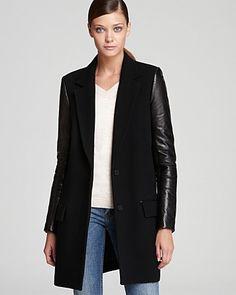 Theory Coat - Bindra Raw Edge Wool   Bloomingdale's  $625